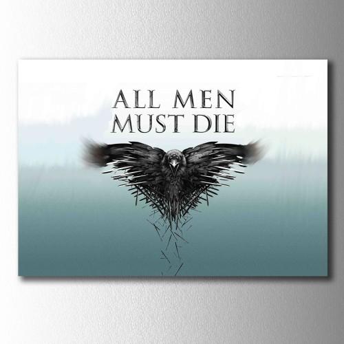 All Man Must Die Kanvas Tablo