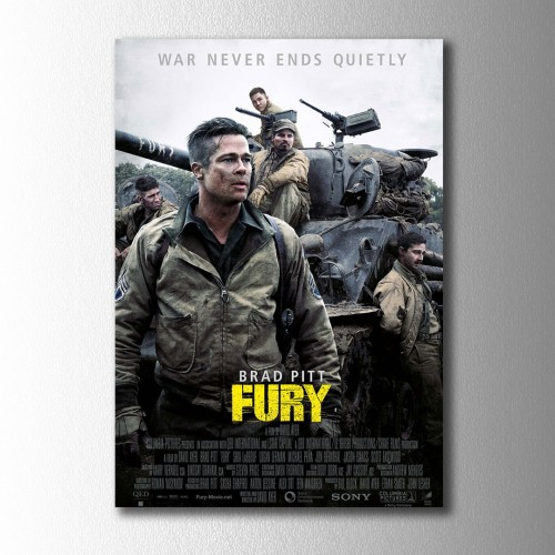 Fury Afiş  Kanvas Tablo