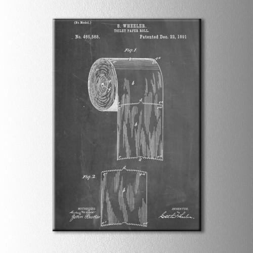 Tuvalet Kağıdı Patenti Kanvas Tablo