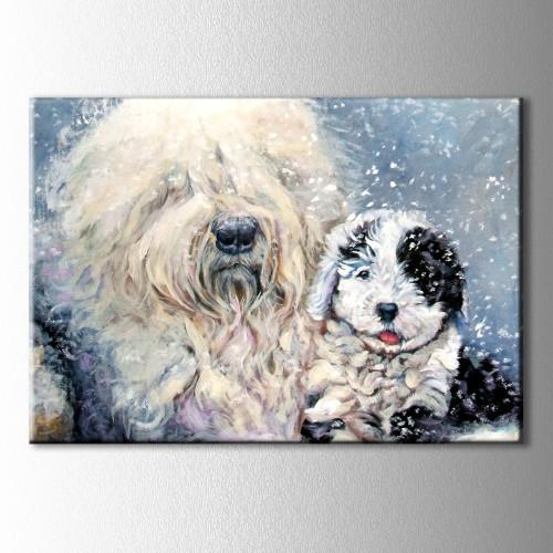 İki Köpek Kanvas Tablo