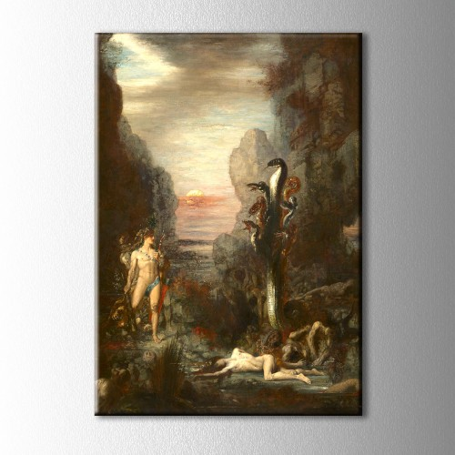 Hercules and the Lernaean Hydra Gustave Moreau Kanvas Tablo