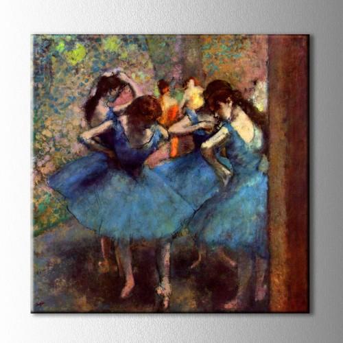 Dancers in Blue Kanvas Tablo