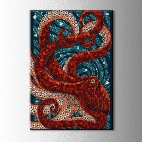 Beautiful Octopus Kanvas Tablo