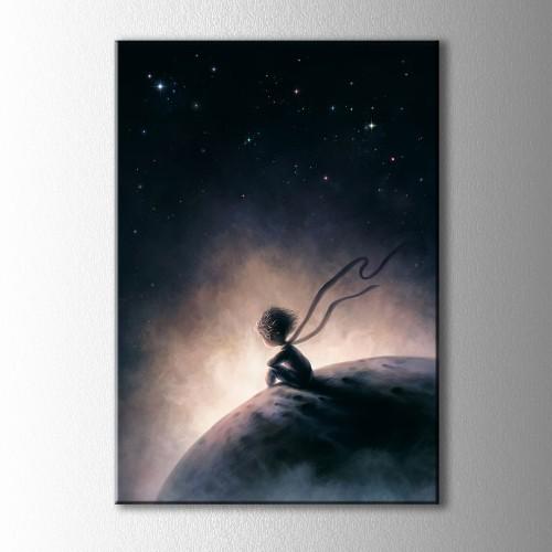 Küçük Prens Gece Kanvas Tablo