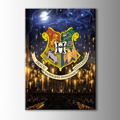 Hogwarts Ortak Salon Kanvas Tablo