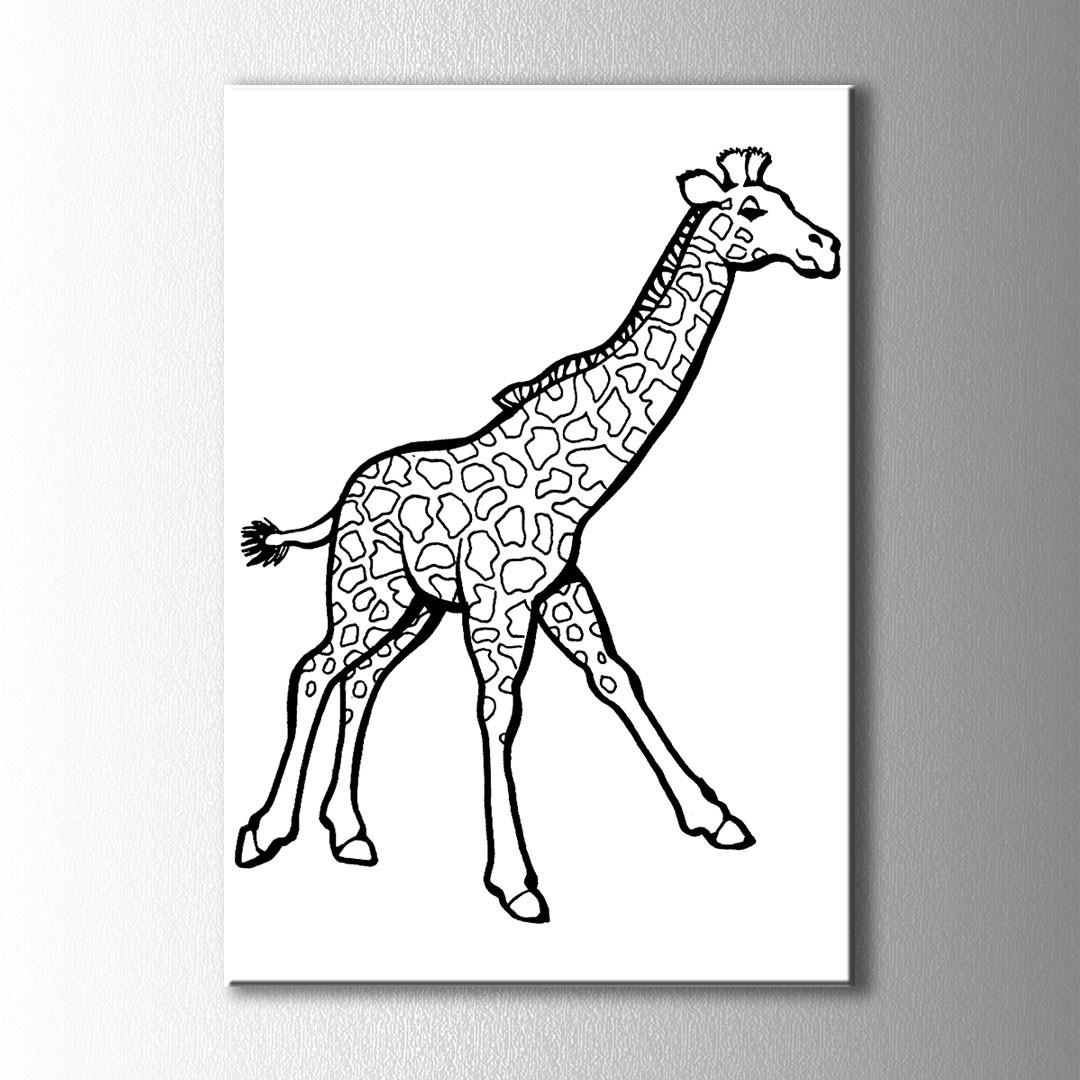 Zürafa Boyama Kanvas Tablo