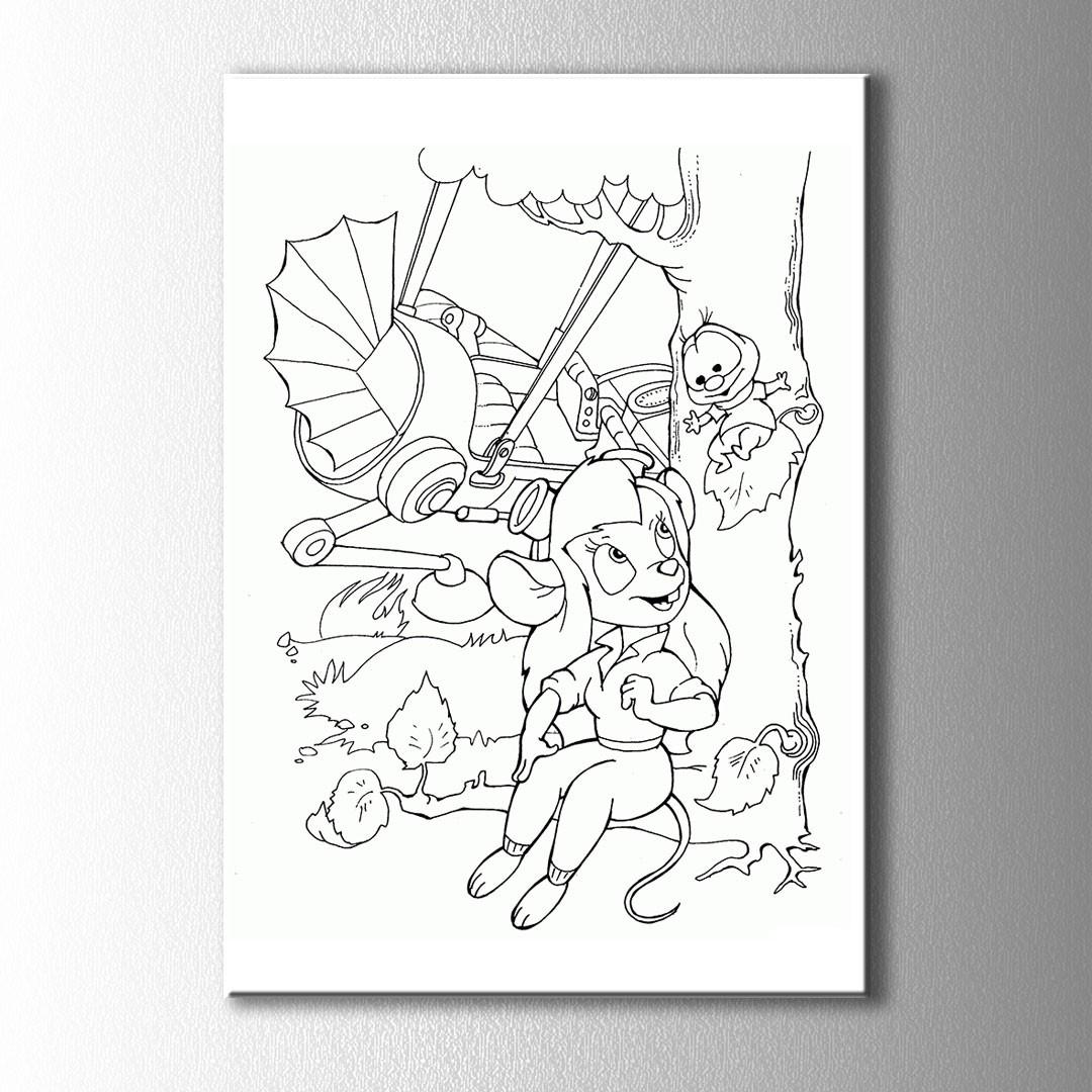 Sincap Kız Boyama Kanvas Tablo