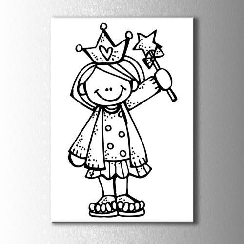 Çocuk Prens Boyama Kanvas Tablo