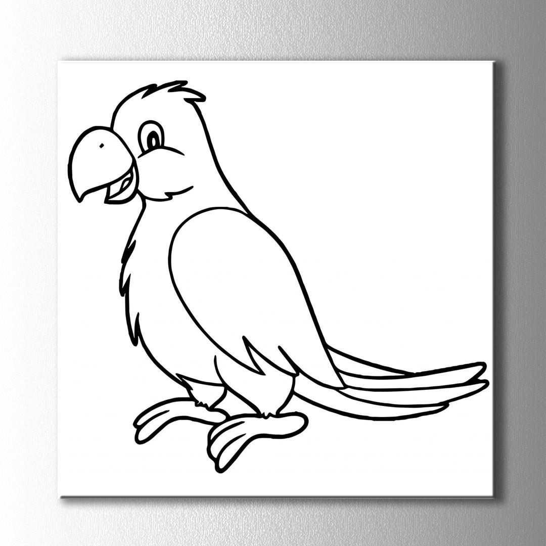 Papağan Boyama Kanvas Tablo