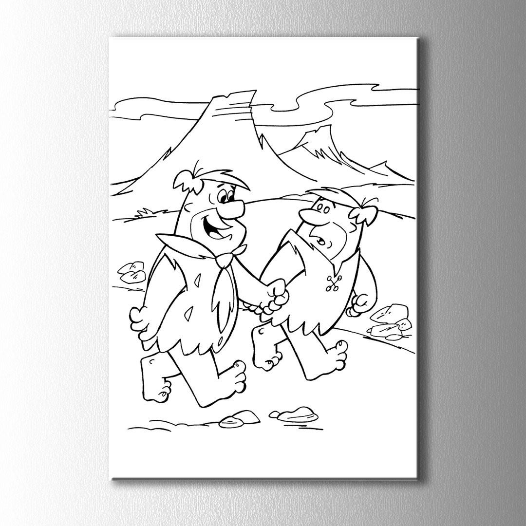 Taş Devri Fred Boyama Kanvas Tablo
