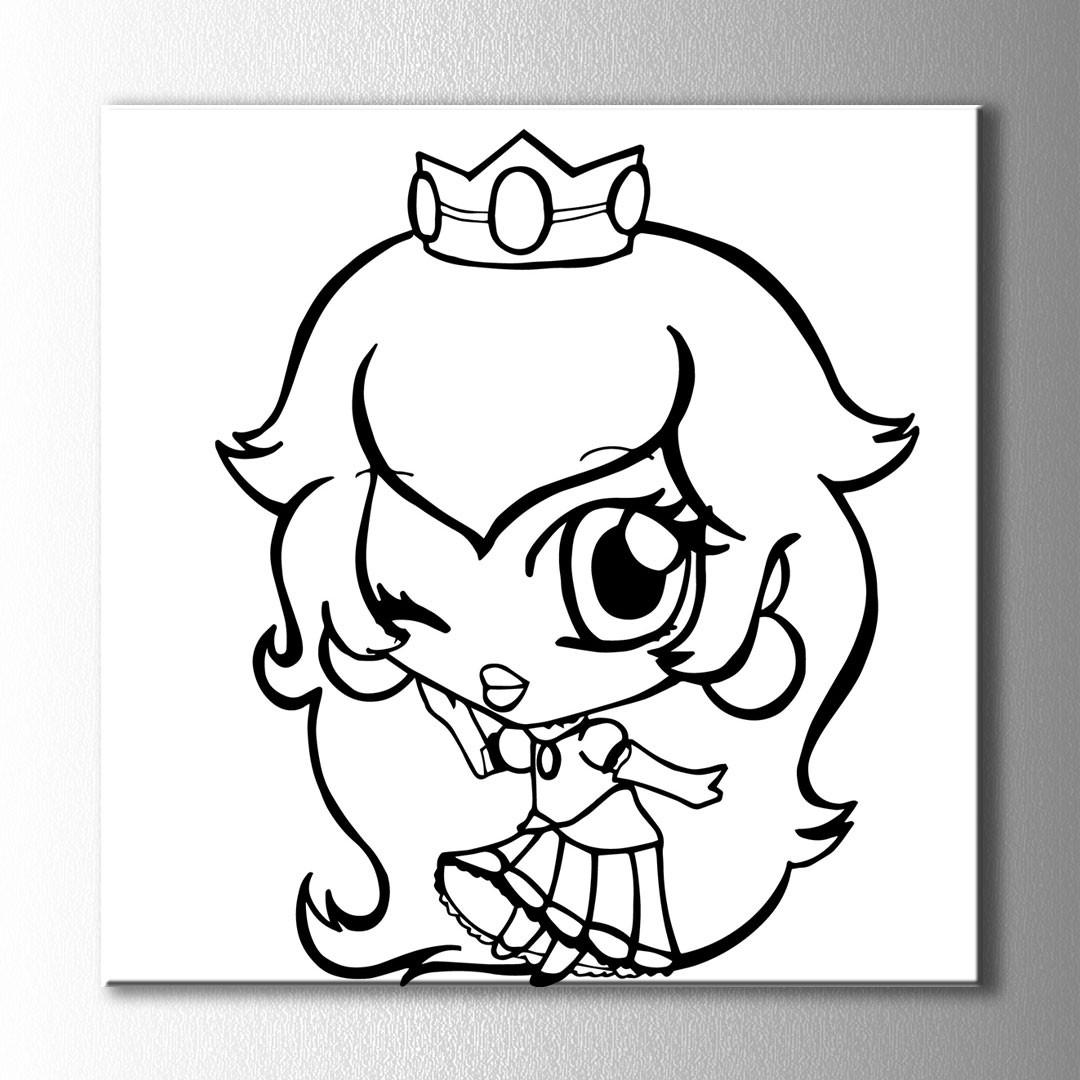 Küçük Kraliçe Boyama Kanvas Tablo