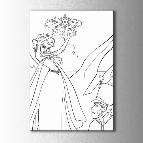 Sihirli Cadı Boyama Kanvas Tablo
