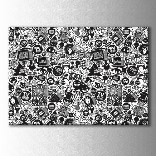 Popart Ekranlar Kanvas Tablo