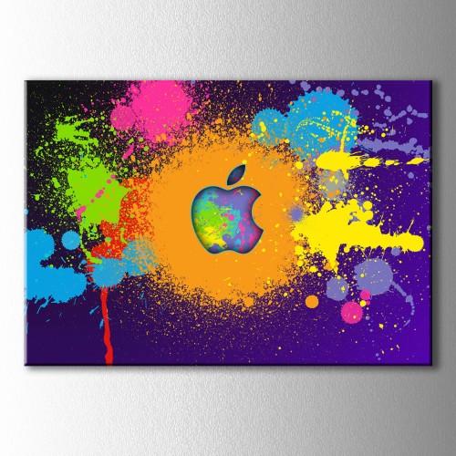Popart Renkler ve Elma Kanvas Tablo