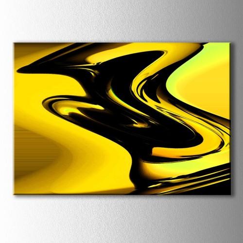 Altın ve Siyah Kanvas Tablo