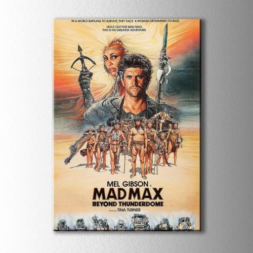 Retro Mad Max Afiş Kanvas Tablo