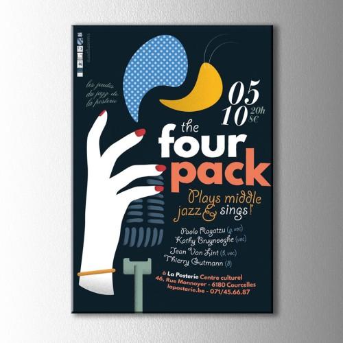 Retro the four pack Afiş Kanvas Tablo