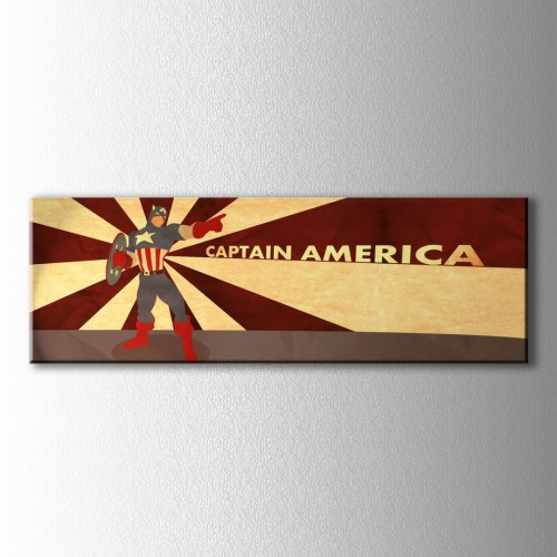 Panaromik Captain America Kare Kanvas Tablo