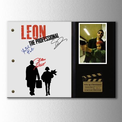Jean Reno İmzalı Leon Afiş Kanvas Tablo
