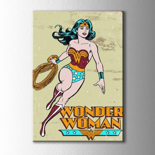 Vintage Wonder Woman Kanvas Tablo