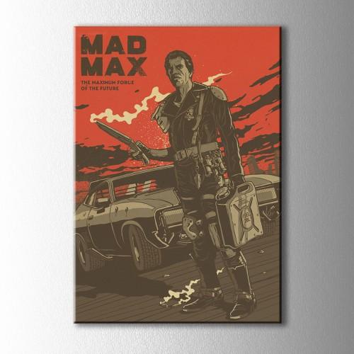 Vintage Mad Max Afiş Kanvas Tablo