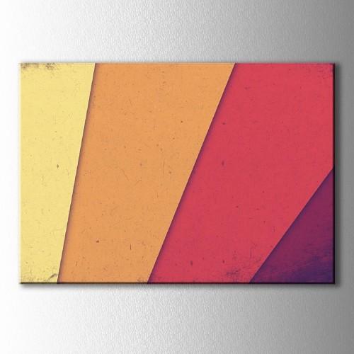Retro Renk Tonları Kanvas Tablo