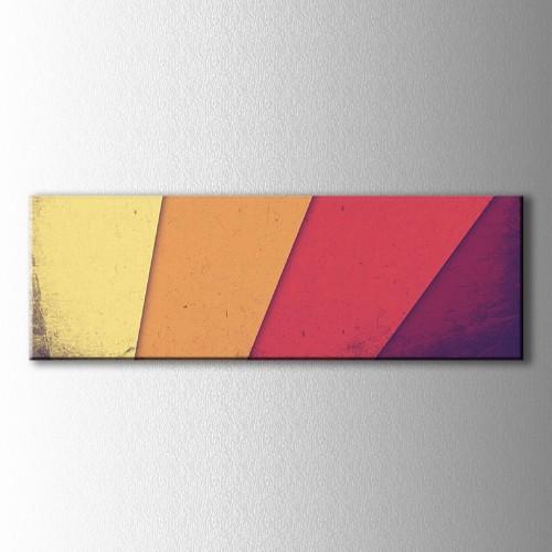 Panaromik Retro Renk Tonları Kanvas Tablo