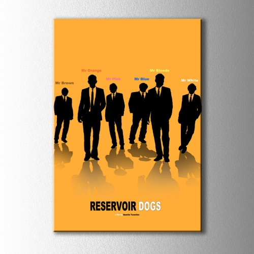 Minimal Reservoir Dog Kanvas Tablo