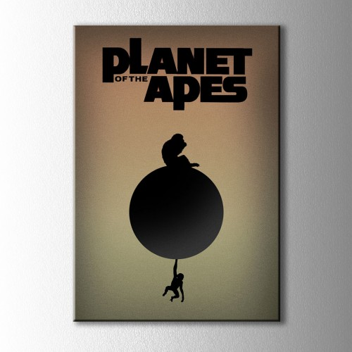 Minimal Planet Of The Apes Kanvas Tablo