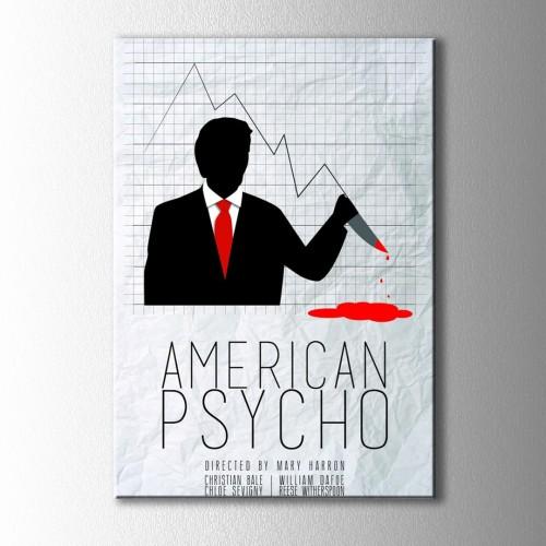 Minimal American Psycho Kanvas Tablo