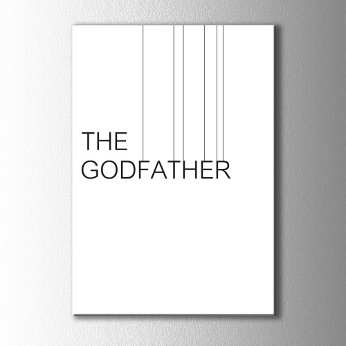 Minimal The Godfather Kanvas Tablo