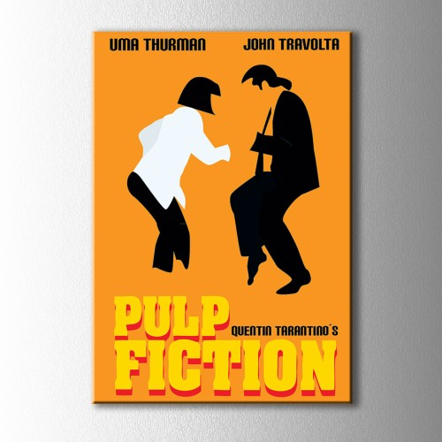 Minimal Pulp Fiction Afiş Kanvas Tablo
