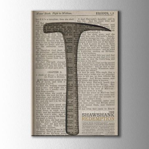 Esaretin Bedeli Kitap ve Çekiç Kanvas Tablo