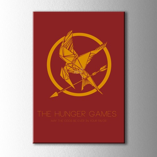 Minimal The Hunger Games Kanvas Tablo