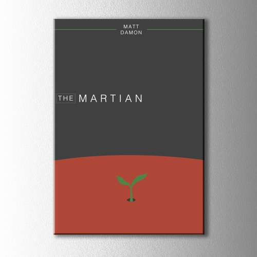 Minimal The Martian Kanvas Tablo
