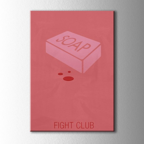 Minimal Fight Clup Kanvas Tablo
