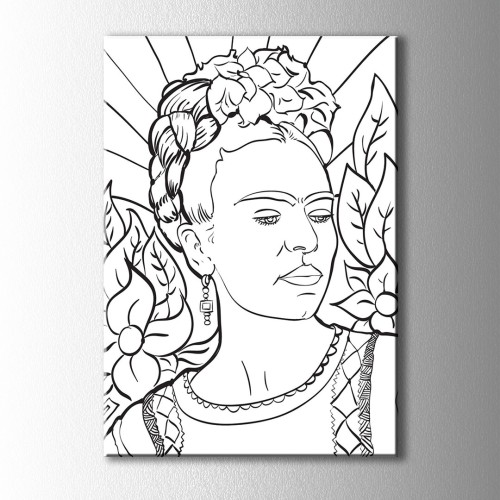 Frida Kahlo Boyama Kanvas Tablo