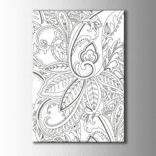 Çiçek ve Yaprakları Kanvas Tablo