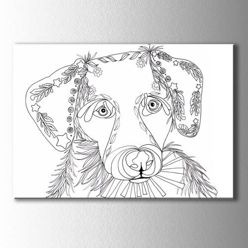 Şirin Köpek Boyama Kanvas Tablo