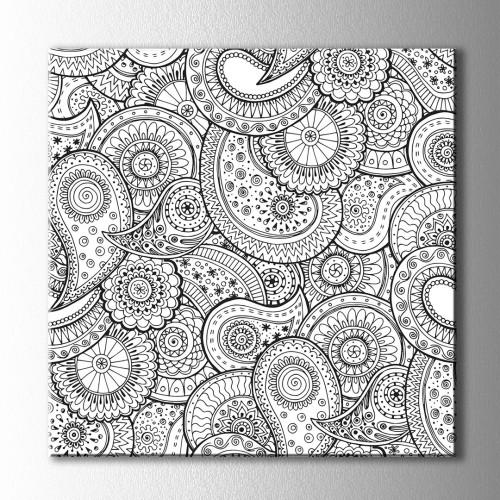 Desenler Boyama Kanvas Tablo