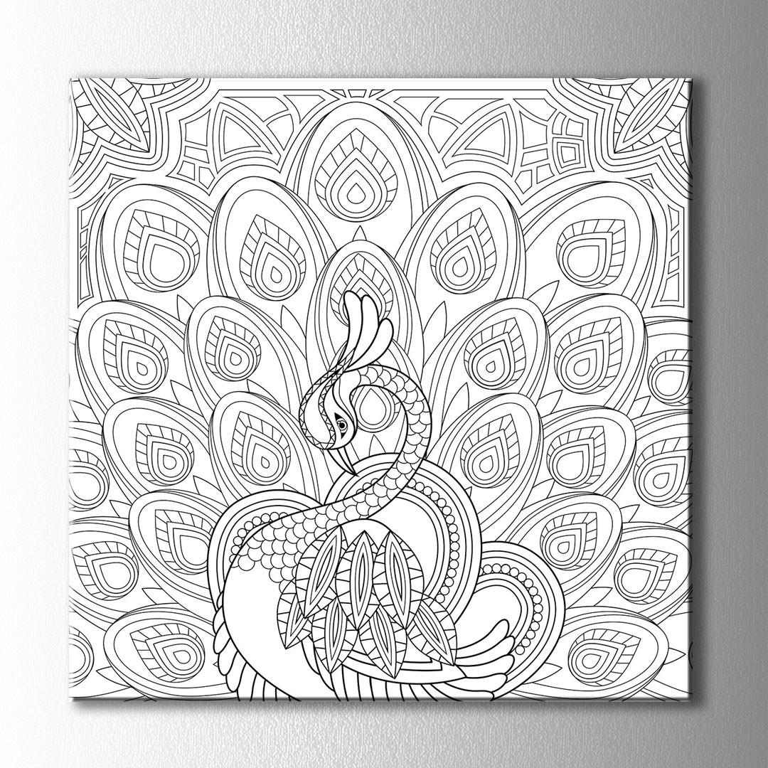 Tavuz Kuşu Boyama Kanvas Tablo