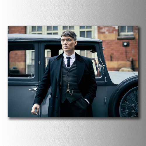 Thomas Shelby Araba Önünde Kanvas Tablo