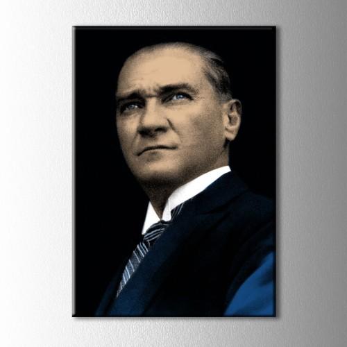 Renklendirilmiş Atatürk Kanvas Tablo