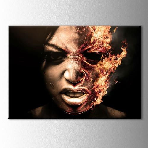 Ateşli Yüz Kanvas Tablo