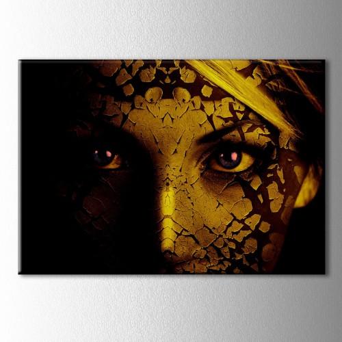 Mavi Gözlü Kadın Kanvas Tablo