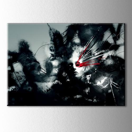 Kırmızı Göz Kanvas Tablo