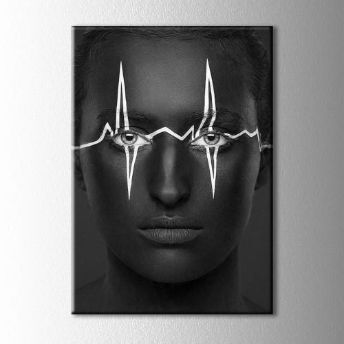 Siyah ve Beyaz Yüz  Kanvas Tablo