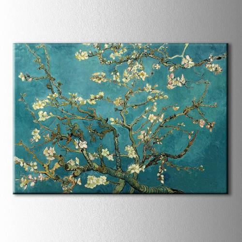 Çiçek Açan Badem Ağacı Kanvas Tablo