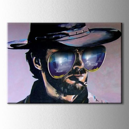 Clint Eastwood Kanvas Tablo