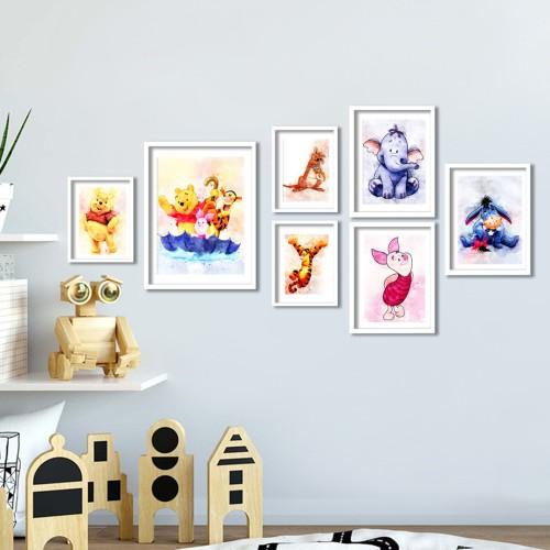 Winnie The Pooh Çerçeveli Poster Seti